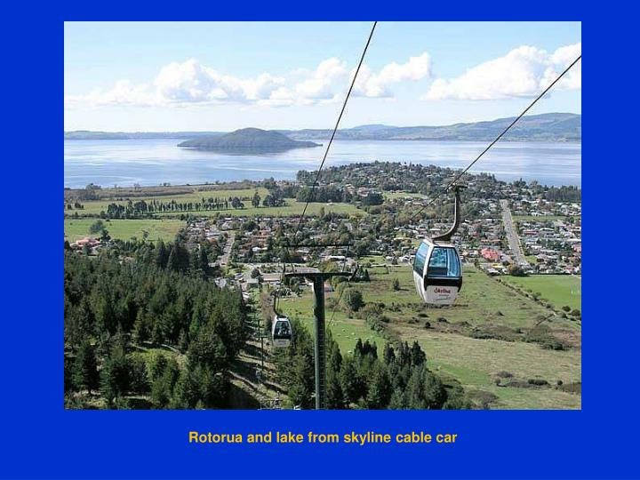 Rotorua and lake from skyline cable car