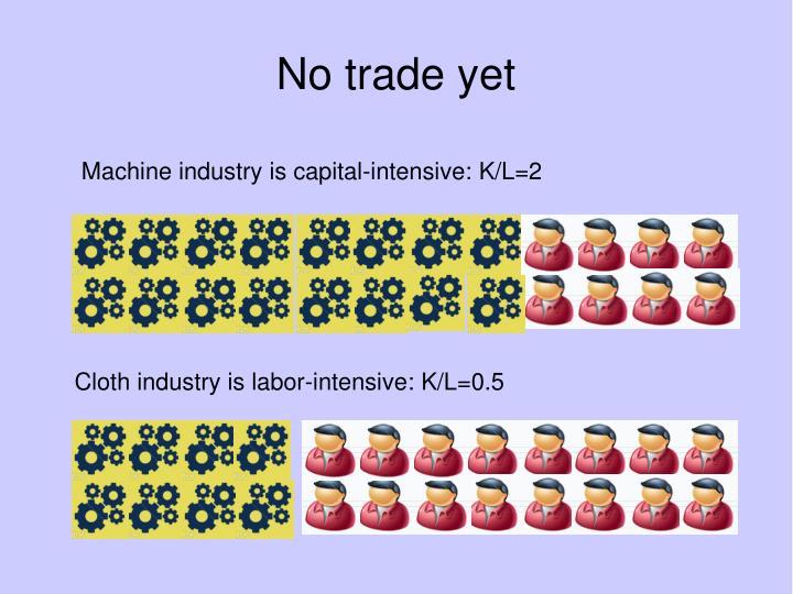 No trade yet