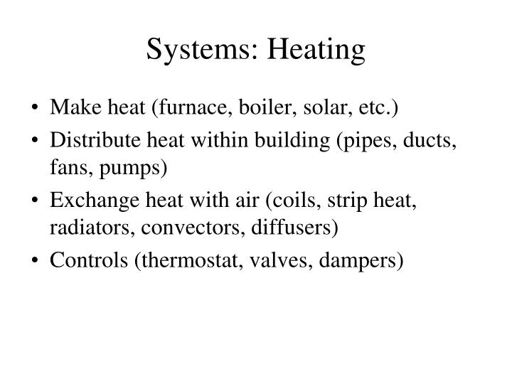 Systems heating
