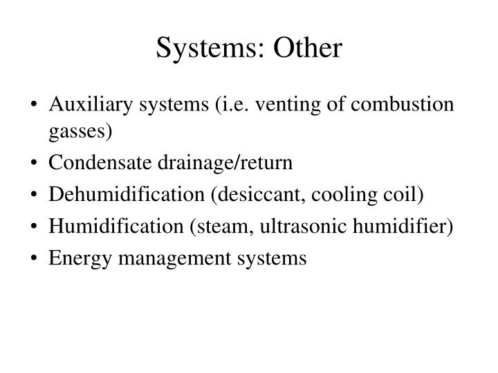 Systems: Other