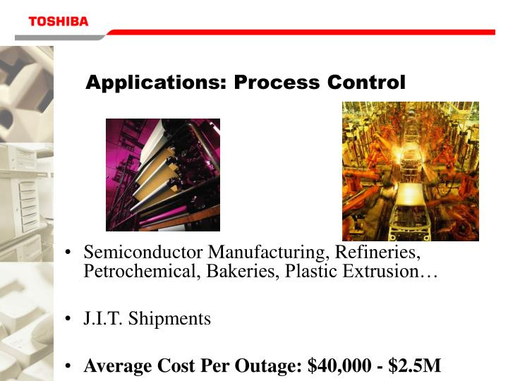 Applications: Process Control
