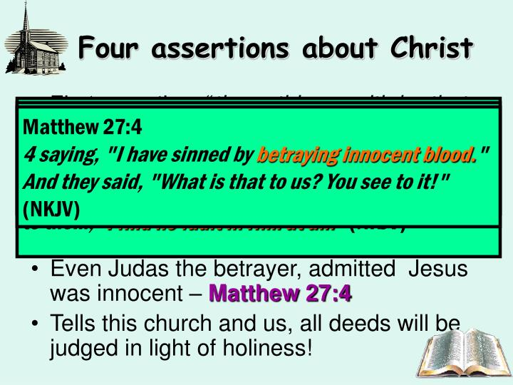 Four assertions about Christ