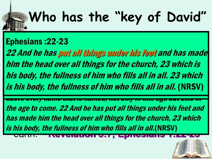 """Who has the """"key of David"""""""