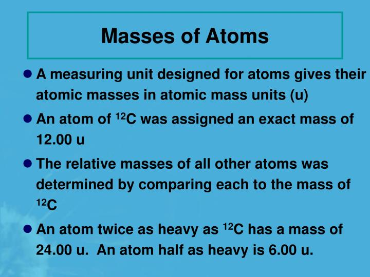 Masses of Atoms
