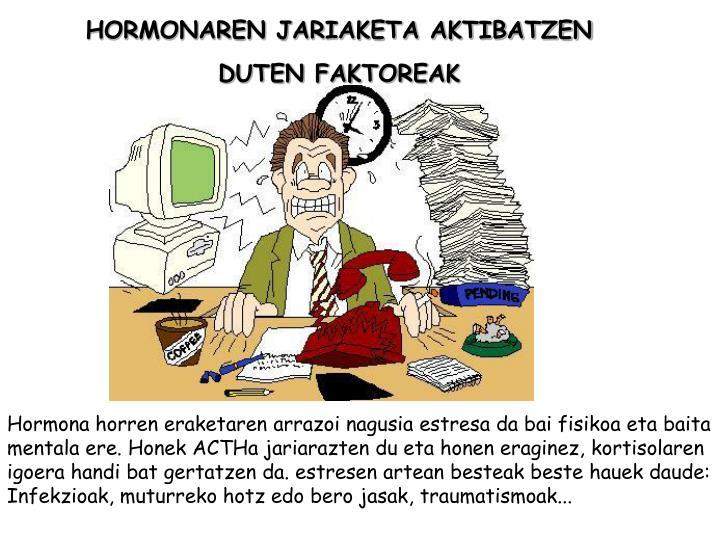 HORMONAREN JARIAKETA AKTIBATZEN
