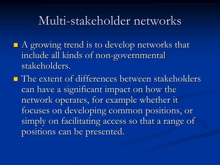 Multi-stakeholder networks