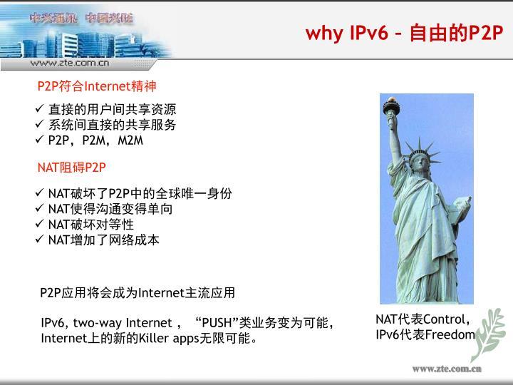 why IPv6 –