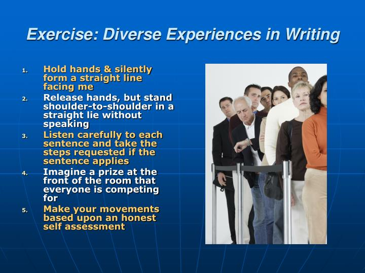 Exercise: Diverse Experiences in Writing