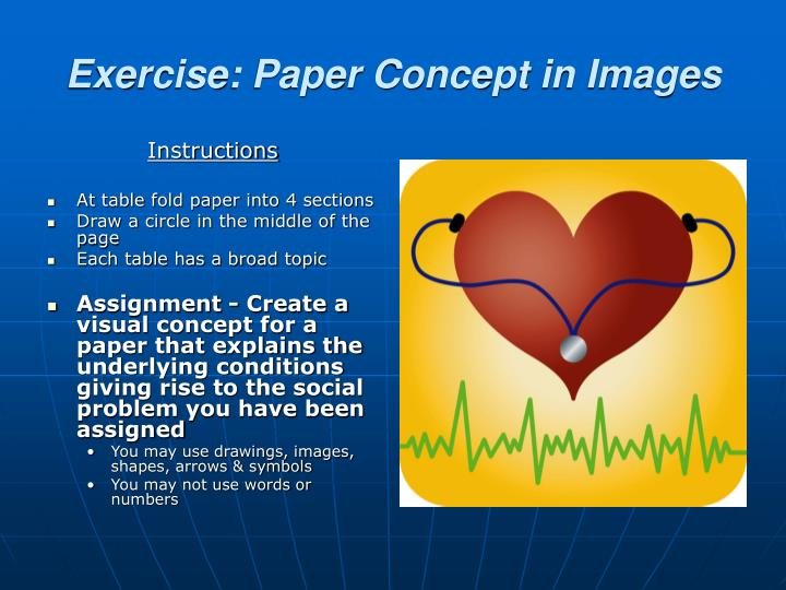 Exercise: Paper Concept in Images