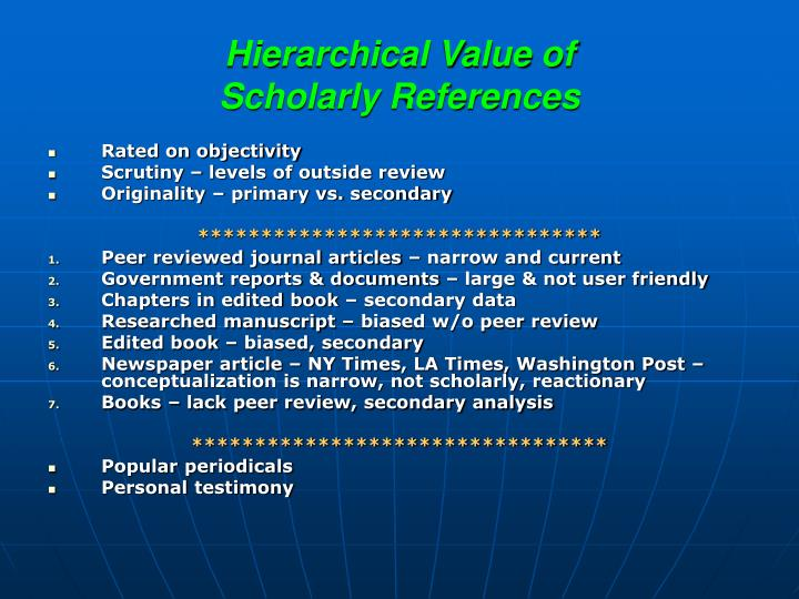 Hierarchical Value of