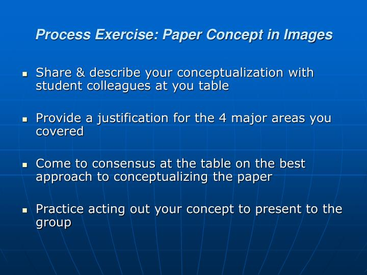 Process Exercise: Paper Concept in Images