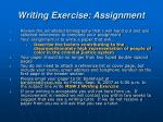 writing exercise assignment