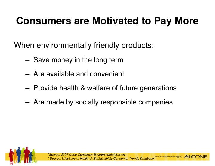 Consumers are Motivated to Pay More