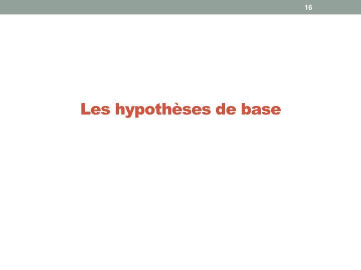 Les hypothèses de base