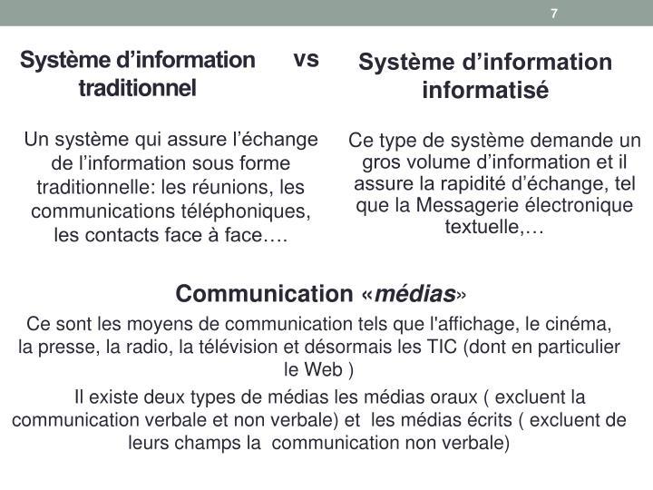 Ce type de système demande un gros volume d'information et il assure la rapidité d'échange, tel que la Messagerie électronique textuelle,…