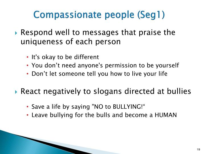 Compassionate people (Seg1)