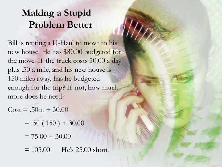 Making a Stupid Problem Better