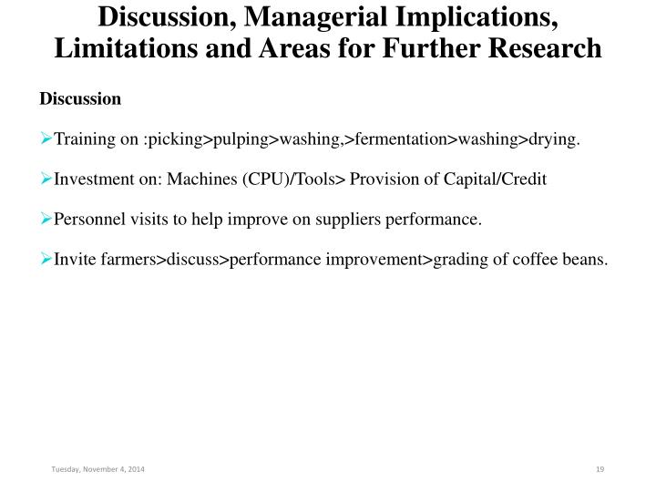 Discussion, Managerial Implications, Limitations and Areas for Further Research
