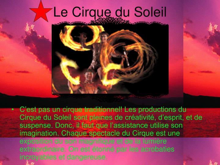 Le Cirque du Soleil