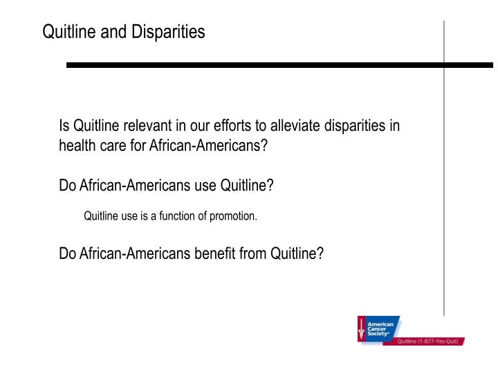 Quitline and Disparities