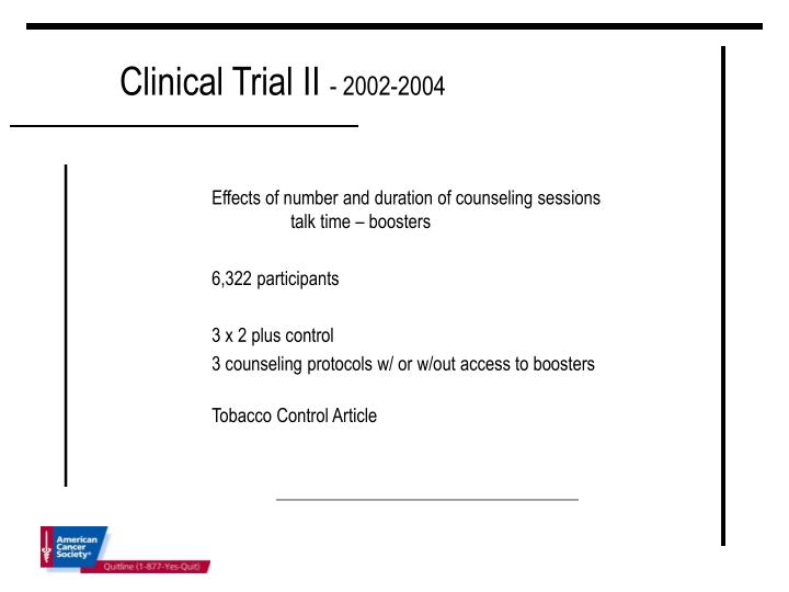 Clinical Trial II
