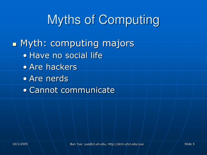 Myths of Computing