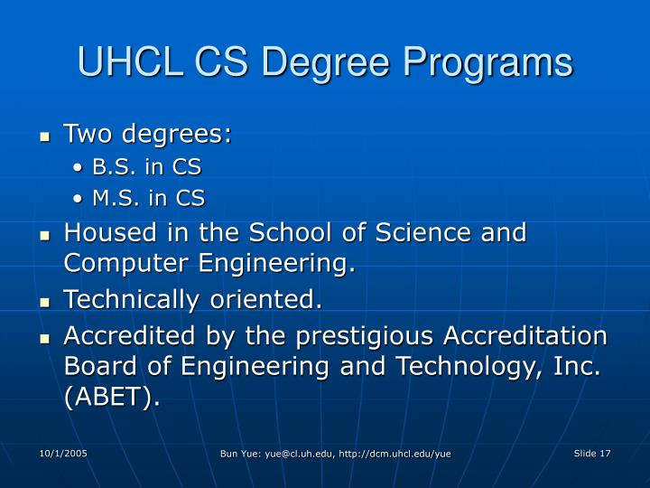 UHCL CS Degree Programs