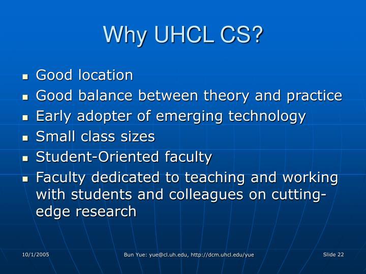 Why UHCL CS?