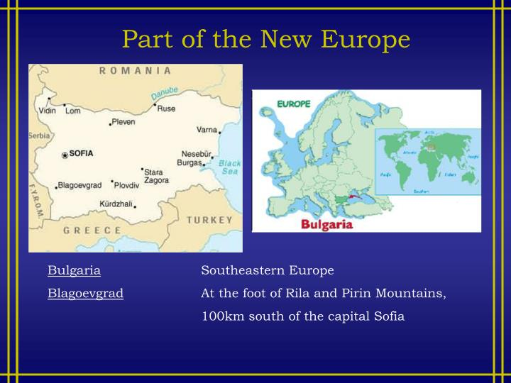 Part of the New Europe