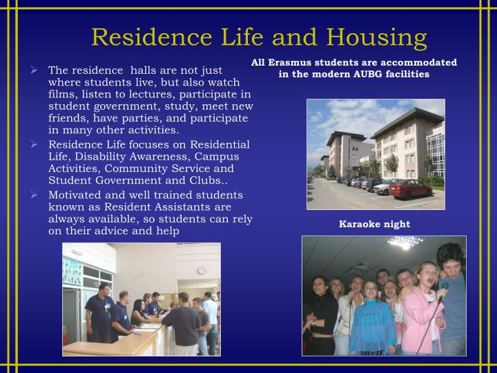 Residence Life and Housing