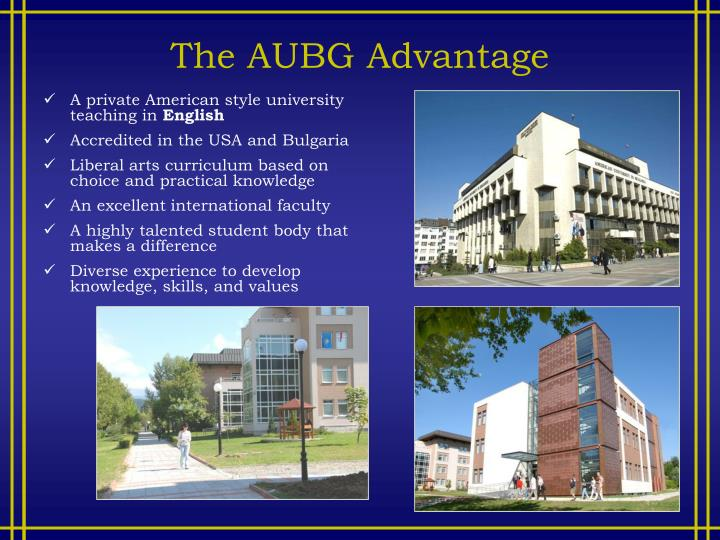 The AUBG Advantage