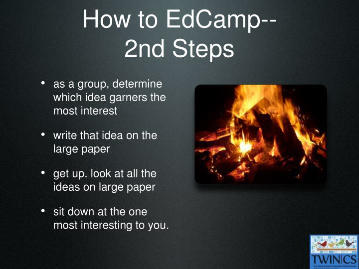 How to EdCamp--