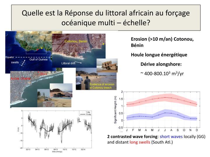Quelle est la Réponse du littoral africain au forçage océanique multi – échelle?