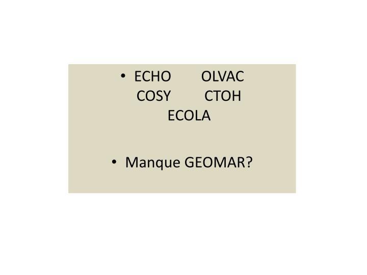 ECHO        OLVAC