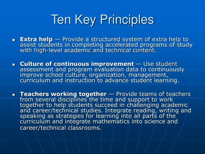 Ten Key Principles