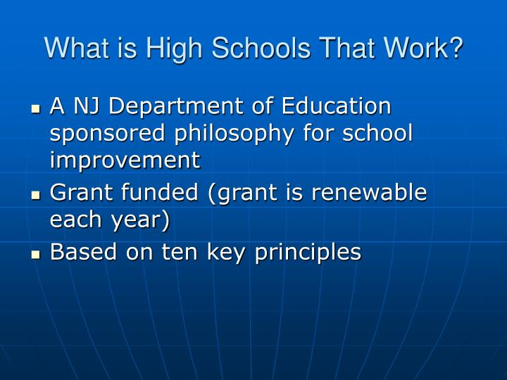 What is High Schools That Work?