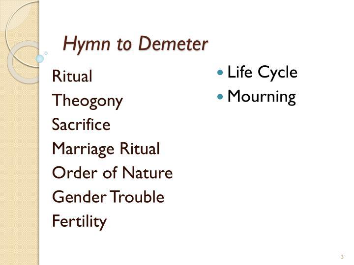 Hymn to Demeter