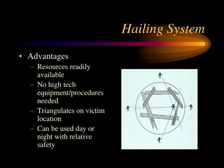 Hailing System