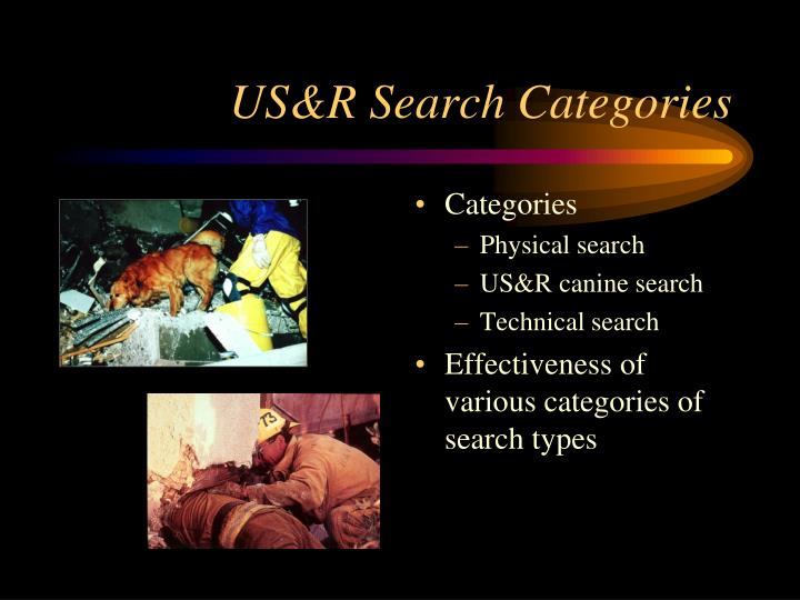 US&R Search Categories