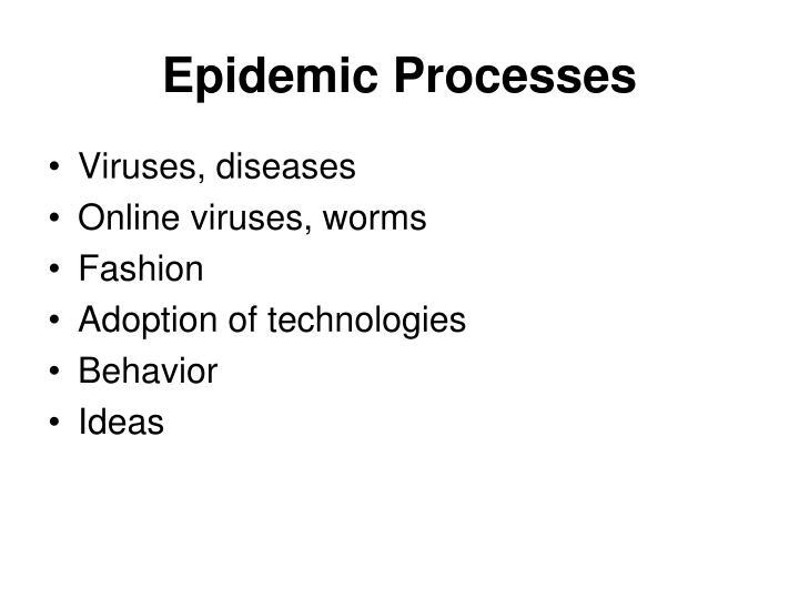 Epidemic Processes