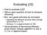 evaluating s
