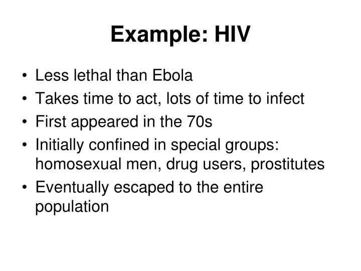 Example: HIV