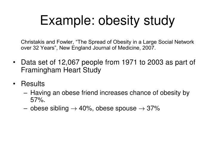 Example: obesity study