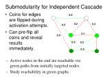 submodularity for independent cascade1