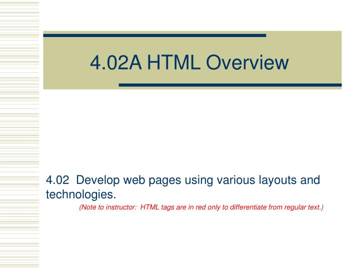4 02a html overview