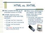 html vs xhtml