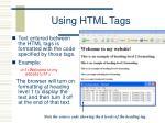 using html tags1