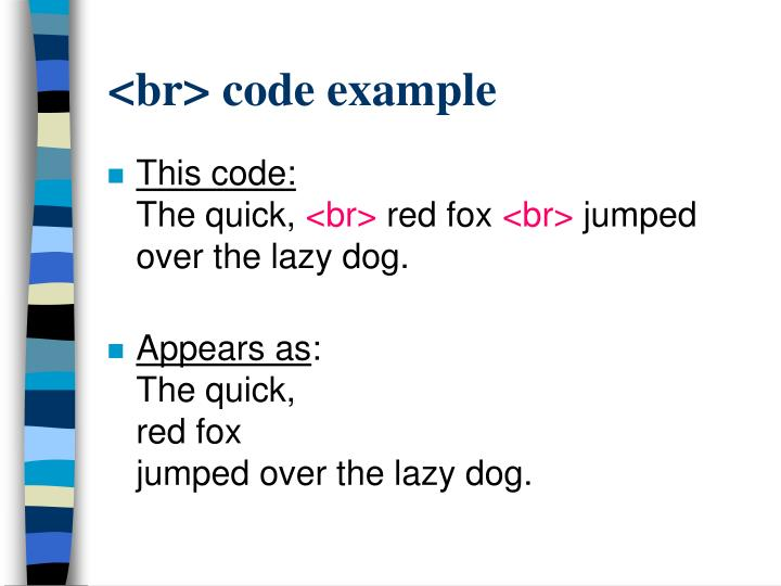 <br> code example