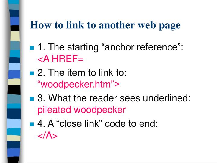 How to link to another web page