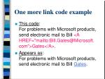 one more link code example